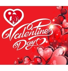 Holiday card - happy valentine s day vector