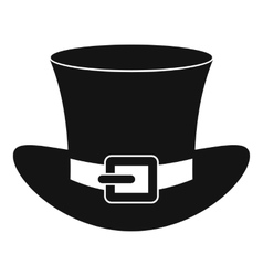 Top hat with buckle icon simple style vector