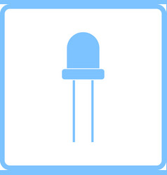 Light-emitting diode icon vector