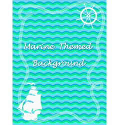Marine theme background vector