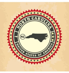 Vintage label-sticker cards of north carolina vector