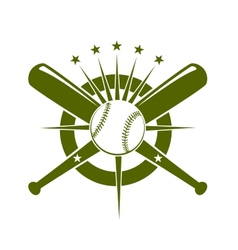 Baseball championship icon or emblem vector image