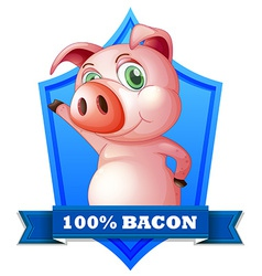 Bacon label vector