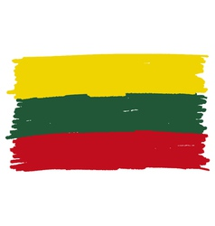 Flag of lithuania handmade vector