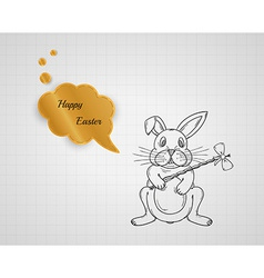 Happy easter with bunny vector