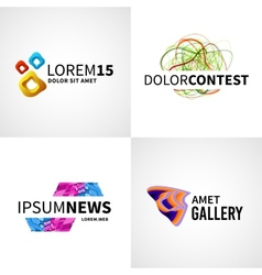 Set of modern colorful abstract news web contest vector