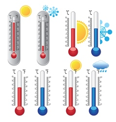 Weather thermometer set vector