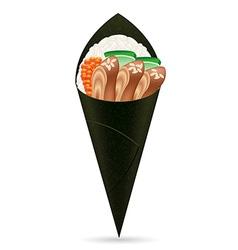 sushi hand rolls 04 vector image