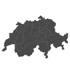 Swiss map with regions vector