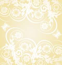 abstract floral background with butterflies vector image vector image