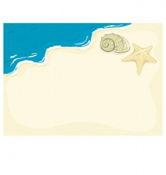 beach background vector image vector image
