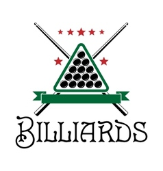 Billiards club emblem vector