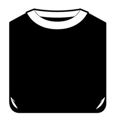 black sections silhouette of man t-shirt folded vector image vector image