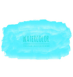 Blue real watercolor stain background vector