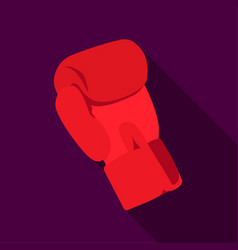 Boxing glove icon flate single sport icon from vector