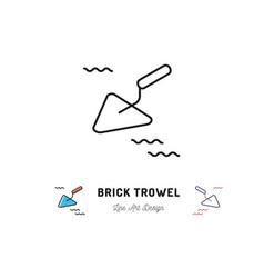 brick trowel icon cement trowel sign building vector image vector image