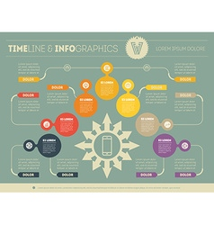Business plan with seven steps Infographic with vector image vector image