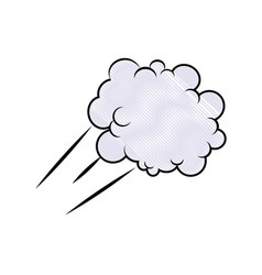 cartoon cloud graffiti artistic design vector image vector image