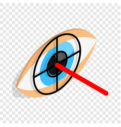 Check pupil of eye isometric icon vector