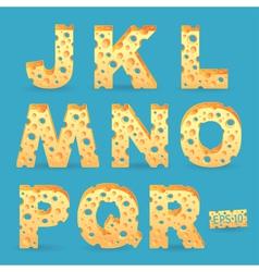 Cheese alphabet vector image vector image
