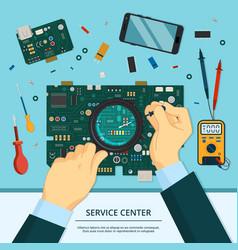 concept of technician service hands vector image