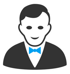 Croupier manager flat icon vector