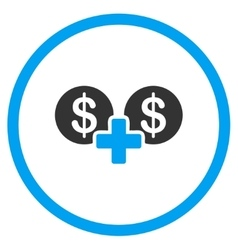 Financial sum icon vector