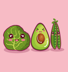 Fresh vegetables funny character vector