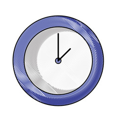 grated circle wall clock time object vector image