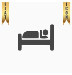 Hotel single icon vector image