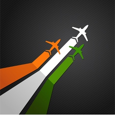 India plane vector image vector image