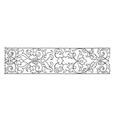 Intarsia frieze undulate band is a wood inlay vector