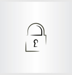 Lock icon logo design vector
