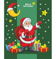 Merry Christmas vintage card design vector image vector image