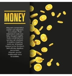 Money poster or banner design template vector image vector image
