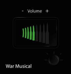 music of war the concept cover flyer booklet vector image