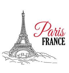 Paris france hand sketched vector