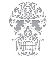 Skull in art nouveau style vector