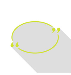 Text quote sign pear icon with flat style shadow vector