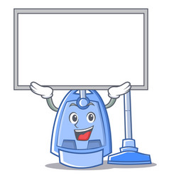 up board vacuum cleaner character cartoon vector image