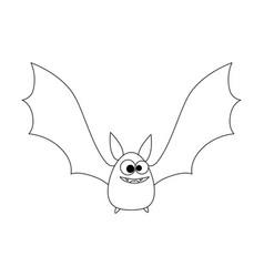 vampire black flying icon vector image