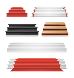winner podium set  red carpet wooden vector image