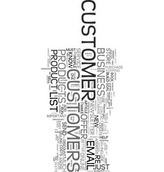 You must build a customer list text word cloud vector