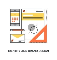 Identity and brand design vector