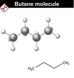 Butane chemical gas compound vector