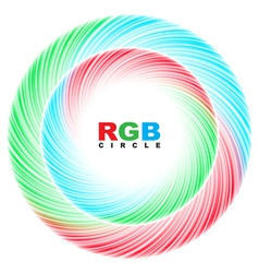 Abstract RGB circle vector image