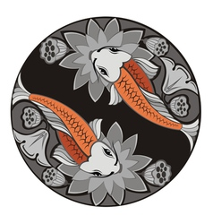 Image of an carp koi vector