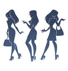 fashionable girls vector image