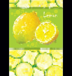Fresh lemon menu vector