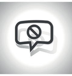 Curved no sign message icon vector